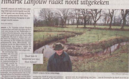 Drentse floraprijs voor Hindrik Lanjouw